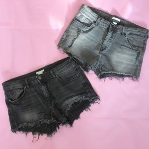 2 Pairs of H&M Cutoff Denim Shorts